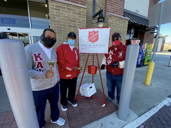 Helping the Local Community by Ringing the Bell for Salvation Army